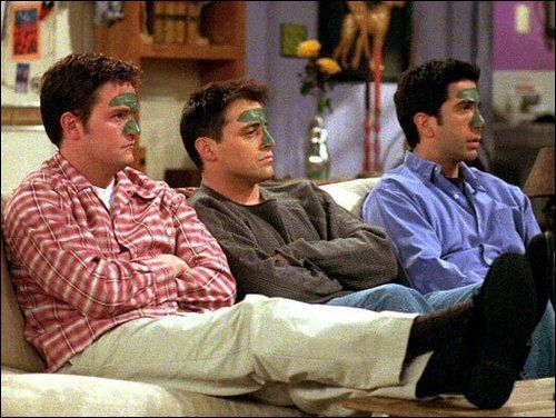 Bromantic threesome: Ross, Chandler and Joey | Bromances ...