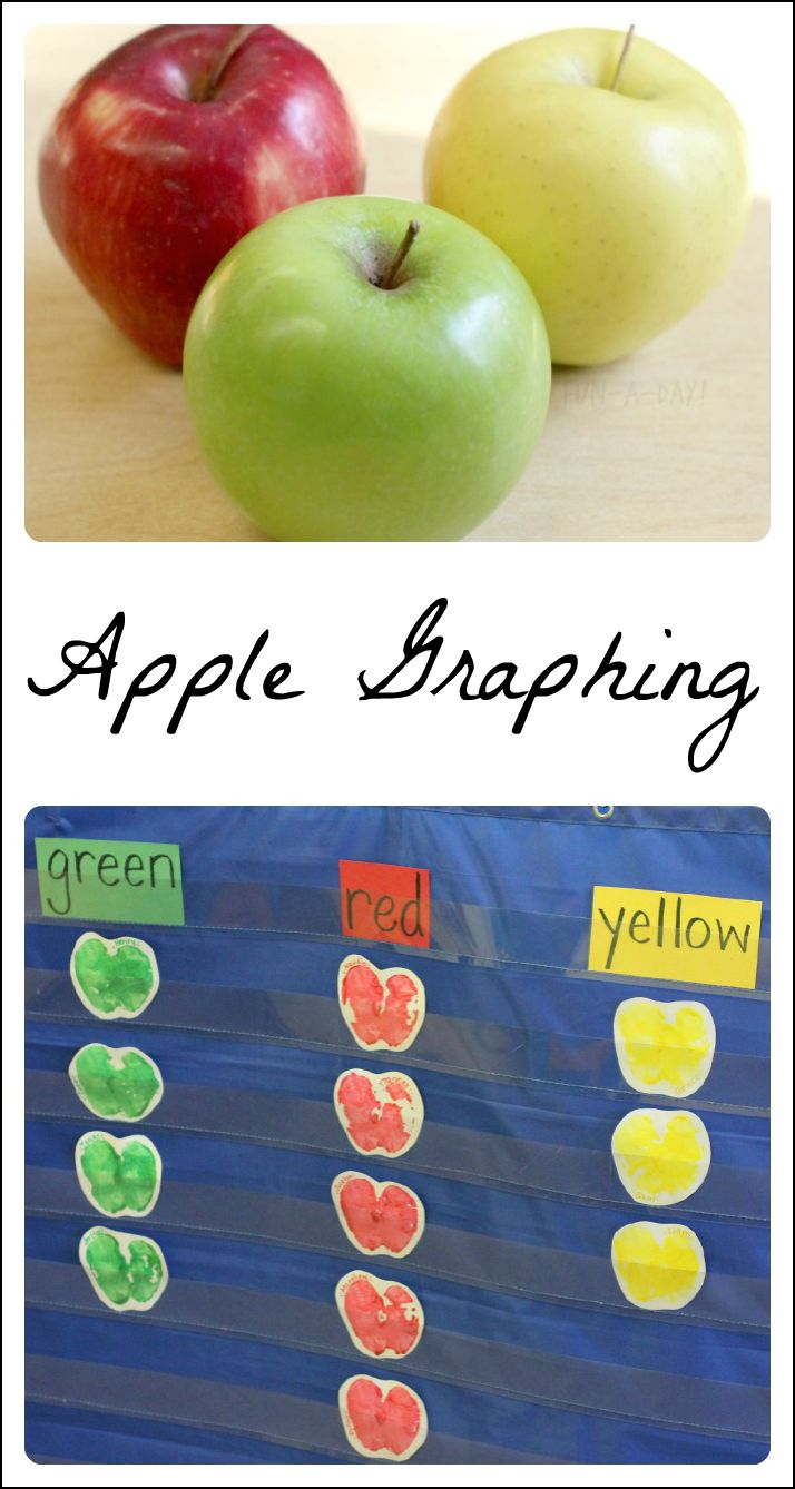 A fun way to combine science, math, and art for lots of playful learning! Great for a preschool apple theme, as well as kindergarten and homeschool. #playfulpreschool