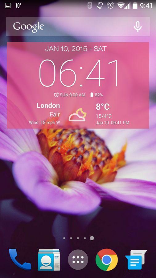 날씨 & 시계 위젯 - Android- 스크린샷