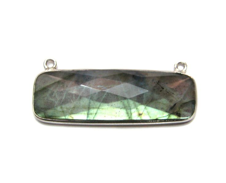 925 Sterling Silver Bezel Connectors , Fine quality Labradorite gemstone Necklace Pendant findings links jewelry making supplies wholesale by finegemstone on Etsy https://www.etsy.com/listing/185171575/925-sterling-silver-bezel-connectors