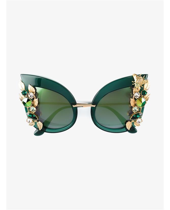 DOLCE & GABBANA Crystal Embellished Sunglasses