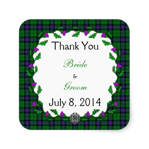 Armstrong Celtic Wedding Thank You Stickers
