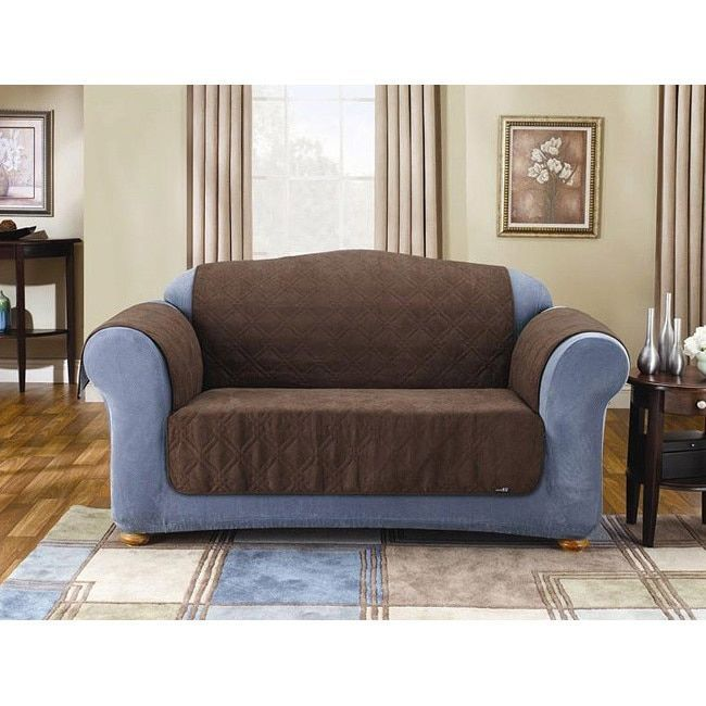 Best Sure Fit Quilted Suede Chocolate Sofa Pet Throw Pillow 400 x 300