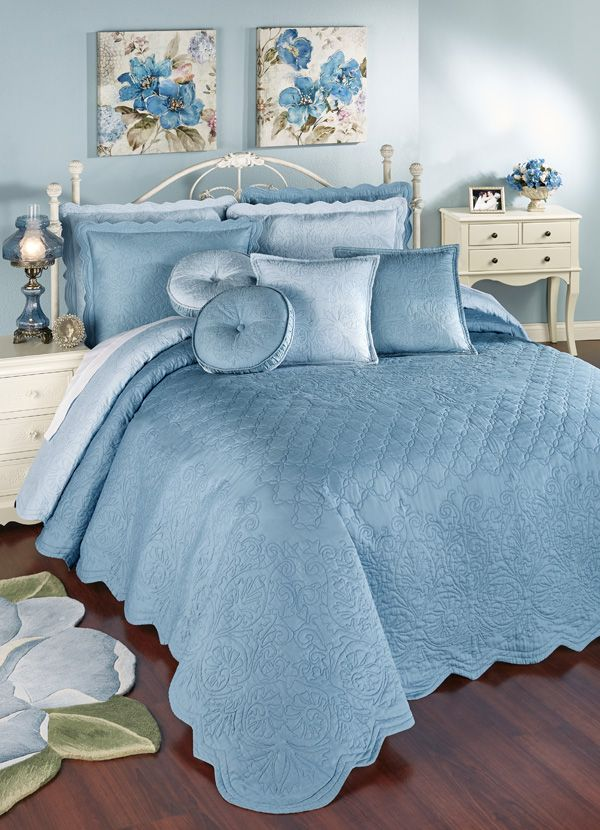 Everafter Dusty Blue Reversible Quilted Oversized