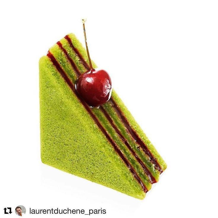 #Repost @laurentduchene_paris (@get_repost) @bakelikeapro  Nos créations sur le thème de la pistache et de la cerise griotte @fabienlemoal @slamjam @colinguero @benricci_patissier @berangergosset @tonio_du_94 @jsfortune @qsloumeau @relaisdesserts_officiel  #cerise #pistache #saison #laurentduchene #mof #instafood #instamoment #food #foodporn #