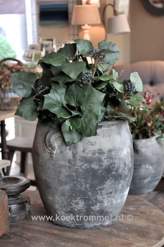 oude, stenen vaas