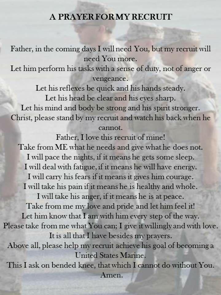 a prayer for my recruit   usmc  mcrd