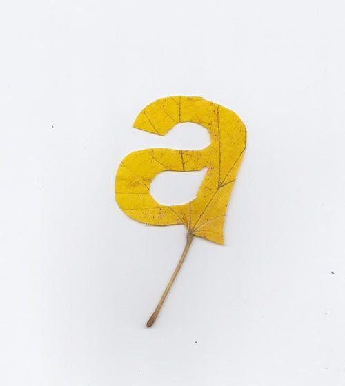 Falling Leaves Typography by Twan van Keulen in art Category - a