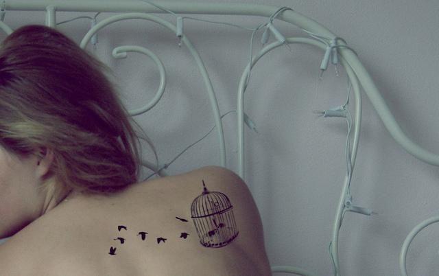 Tatuajes de jaulas de aves