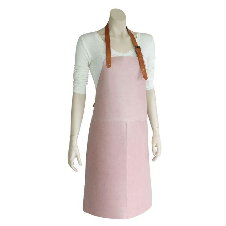 Super leuke roze bbq schort voor de echte bbq vrouw! #bbq #leer #schort