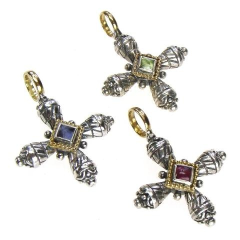Gerochristo Crosses Sterling Silver and Gold 18-karat Made in Greece