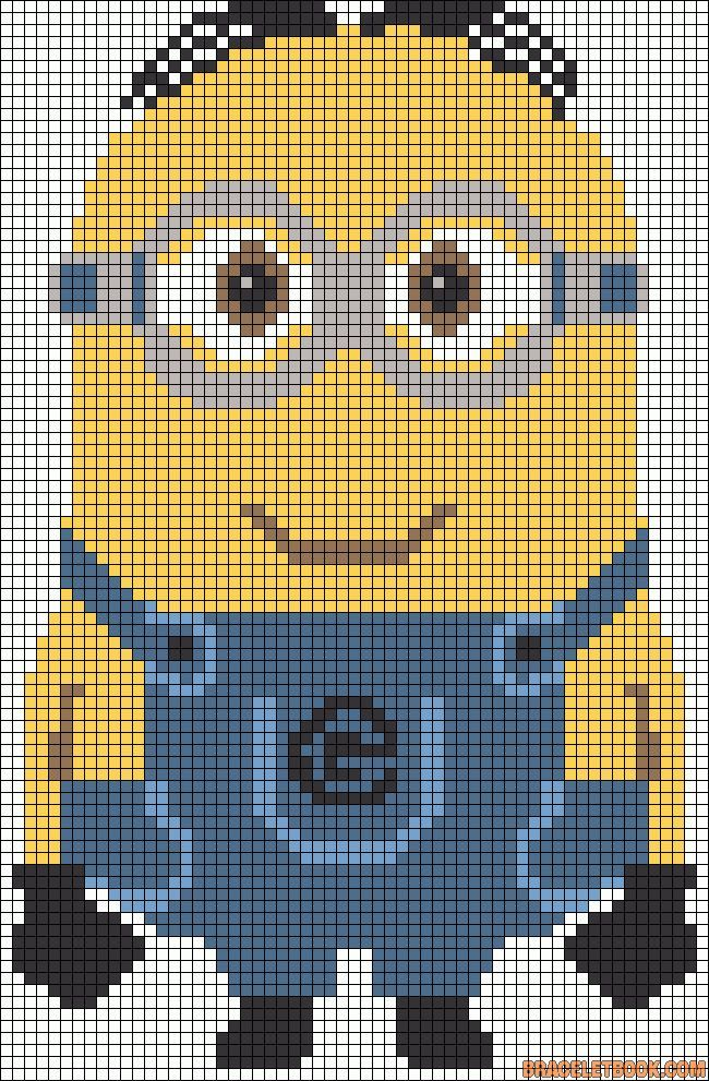 Minion cross stitch, perler beads pattern