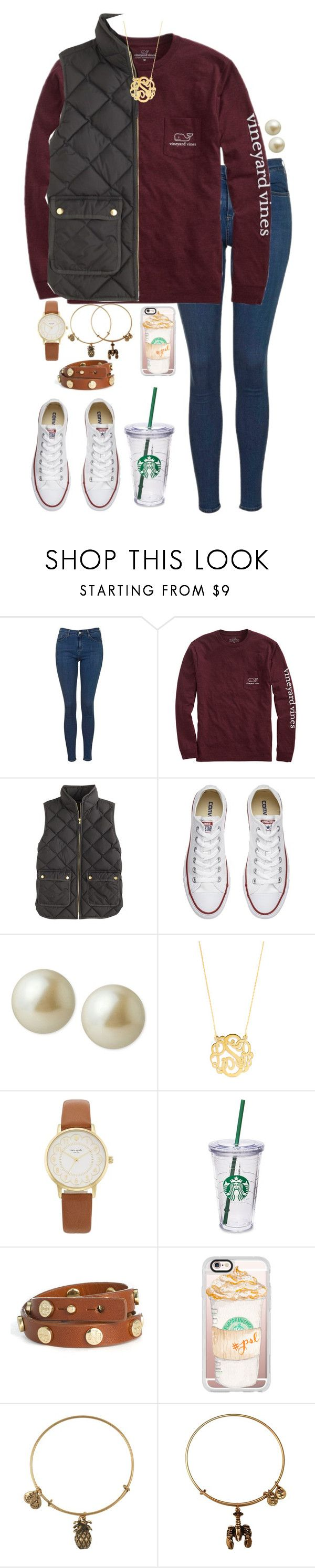 """""""Halloween contest entry one RTD"""" by lbkatie17 ❤ liked on Polyvore featuring Topshop, Vineyard Vines, J.Crew, Converse, Carolee, BaubleBar, Kate Spade, Starbucks, Tory Burch and Casetify"""