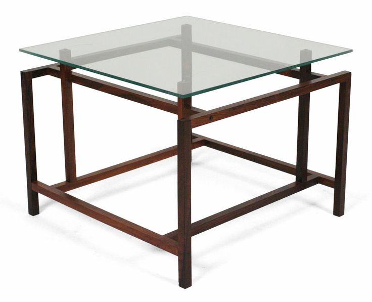 Pair of Rosewood Architectural Frame Side Tables by Komfort   From a unique collection of antique and modern end tables at http://www.1stdibs.com/furniture/tables/end-tables/
