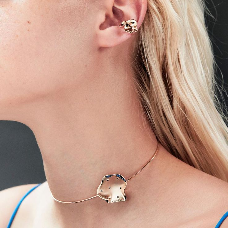 """192 Likes, 1 Comments - SARAH & SEBASTIAN (@sarahandsebastianjewellery) on Instagram: """"Tidal: Abby wears the Rock Oyster Corsage styled with the Oyster Ear Cuff Set, both handcrafted in…"""""""