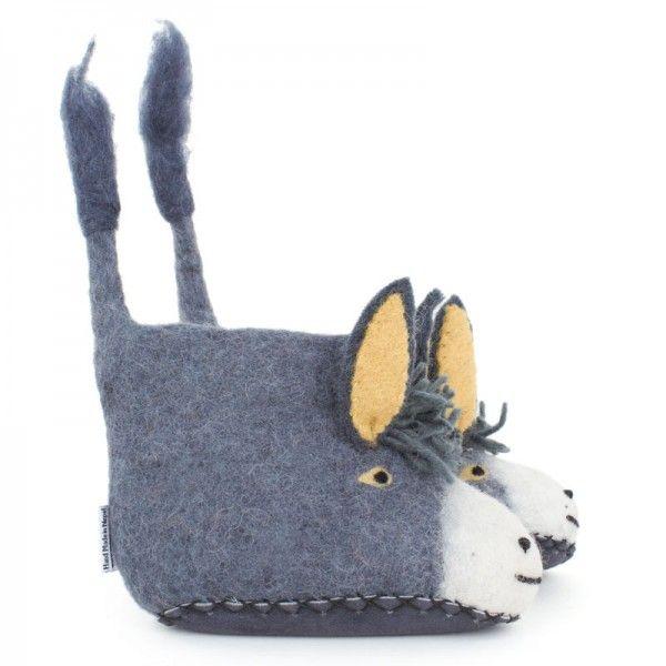 Sew Heart Felt Grey Darci Donkey Slippers at alexandalexa.com