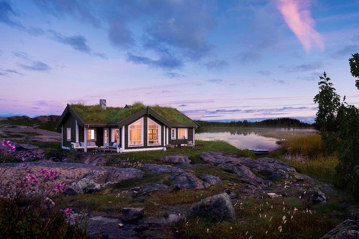 FINN – Romslig familiehytte på Sjusjøen, 3 sov og hems. Stor, solrik tomt med flott utsikt!