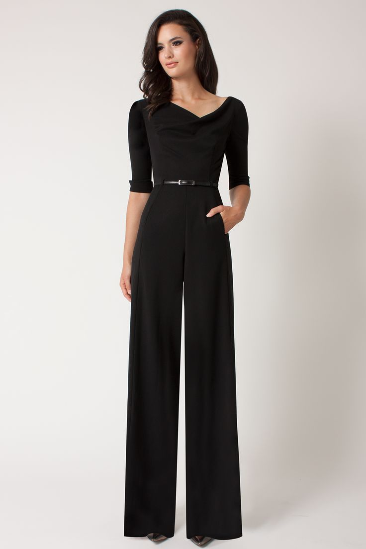 Black Halo 3 4 Sleeve Jackie Jumpsuit 390 Jumpsuit