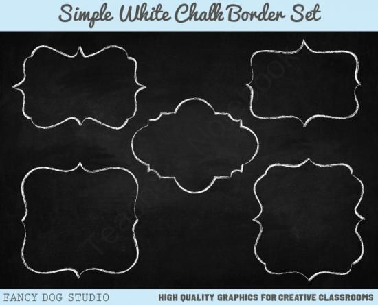 Chalk Clipart Border With Chalkboard Background Images From Fancy Dog Studio On TeachersNotebook