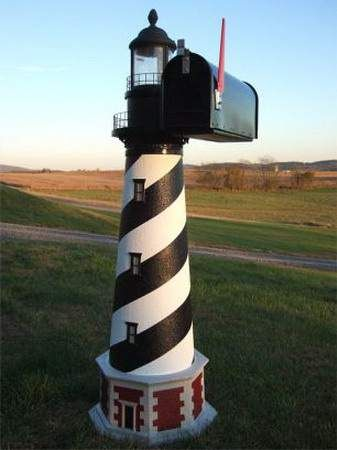 funny crazy mailbox ~ I WANT THIS ONE!!! Lighthouse Mailbox!!!