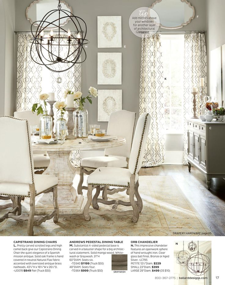 Benjamin Moore Galveston Gray Dining Room With Pedestal Table And White  Upholstered Chairs  Dining Room Color