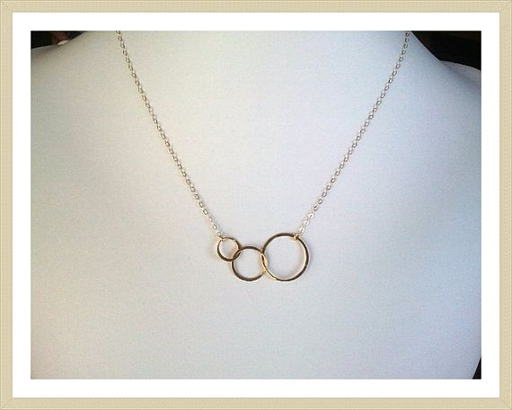 Eternity love Triple Circle Gold Pendant (LOVE this!) $24.00