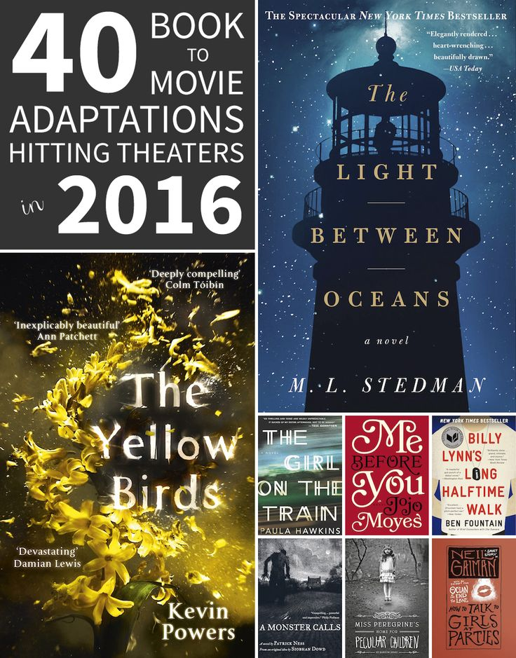 40 Book to Movie Adaptations Hitting Theaters in 2016