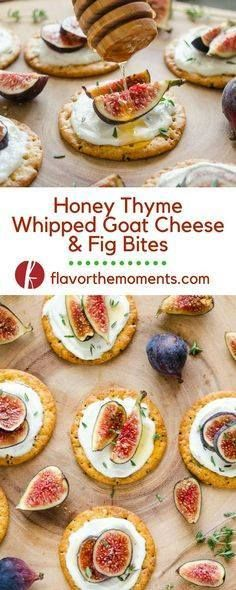 Honey Thyme Whipped Honey Thyme Whipped Goat Cheese and Fig...  Honey Thyme Whipped Honey Thyme Whipped Goat Cheese and Fig Bites are an elegant 5-ingredient appetizer that are perfect for entertaining! Flavor the Moments Recipe : http://ift.tt/1hGiZgA And @ItsNutella  http://ift.tt/2v8iUYW