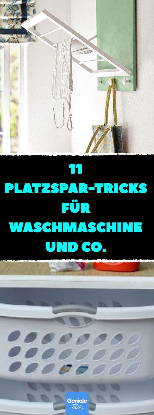 11 Platzspar-Tricks für Waschmaschine und Co. #stauraum #tipps #tricks #zuhause #kleinewohnung