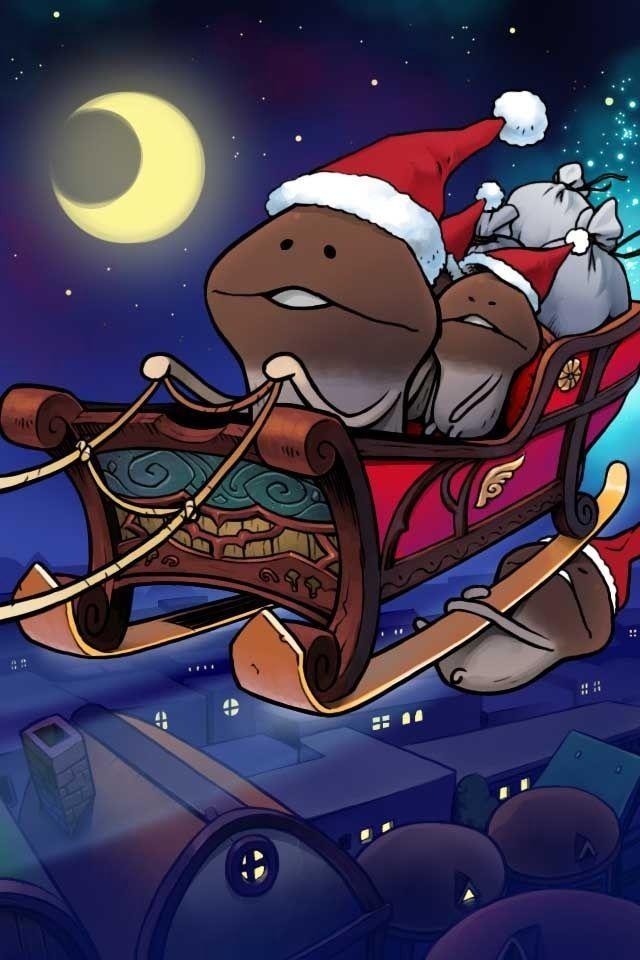 Kawaii Christmas Funghi in Santa!