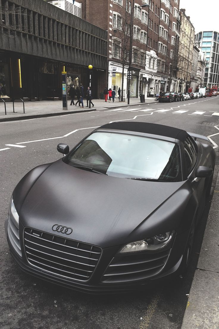 Matte Black Paint Jobs Give An Edgy And Modern Look To An Car. Especially  This Audi.