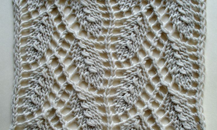 Knitting Pattern Leaf Lace : Willow leaf - an Estonian lace pattern knit - stitchtionary Pinterest L...