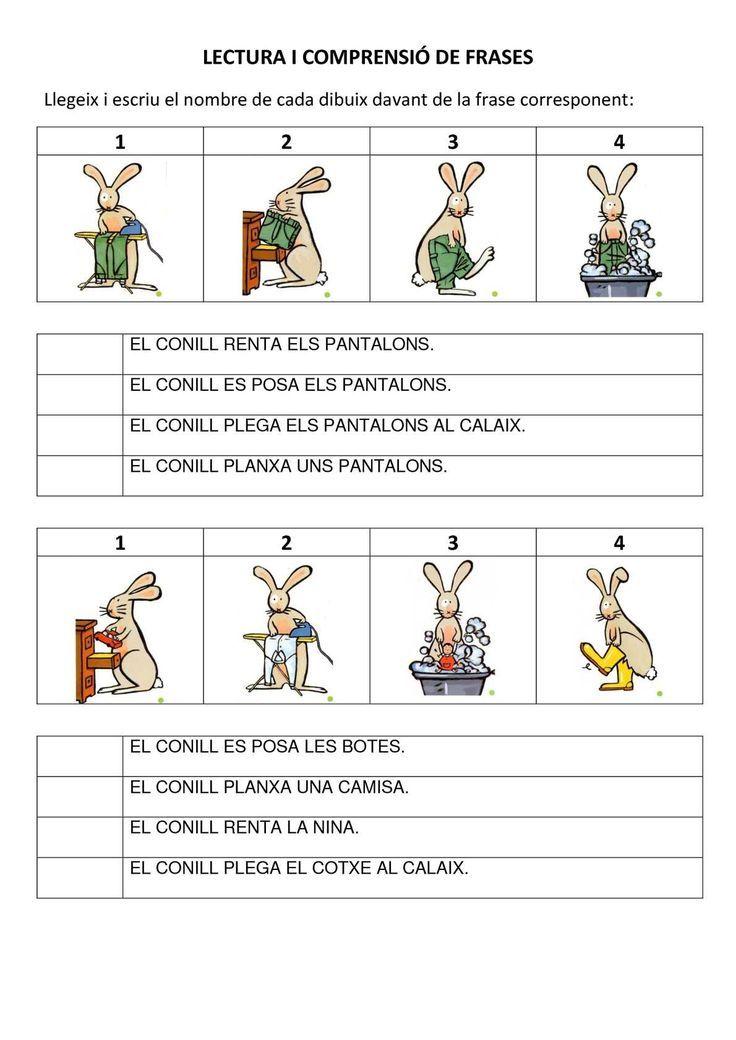 COMPRENSIÓ DE FRASES I CONCEPTES: