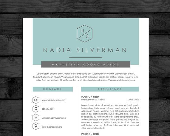 resume template cv template pc mac free cover letter instant download editable word and pages files