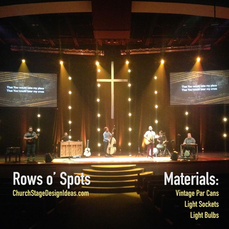 rows o spots stage design from christs church in jacksonville fl - Church Stage Design Ideas For Cheap