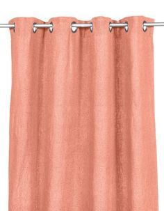 Harmony - Rideaux en lin lavé Propriano - Orange Peche - 140x280 cm - Home Beddings and Curtains