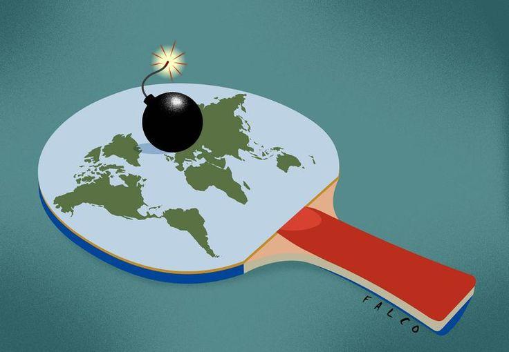 Global terrorism. A cartoon by Falco: http://www.cartoonmovement.com/cartoon/28834