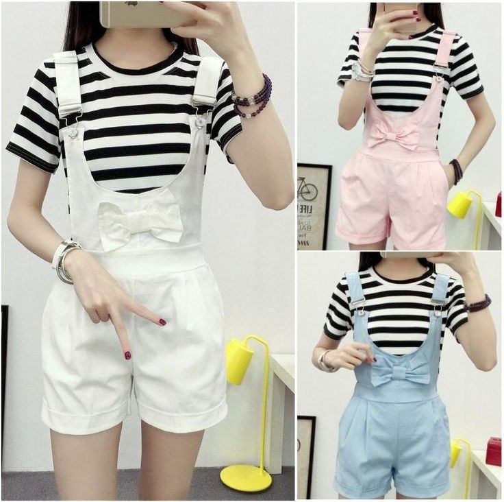 """Sweet bowknot straps shorts SE9797  Coupon code """"cutekawaii"""" for 10% off"""