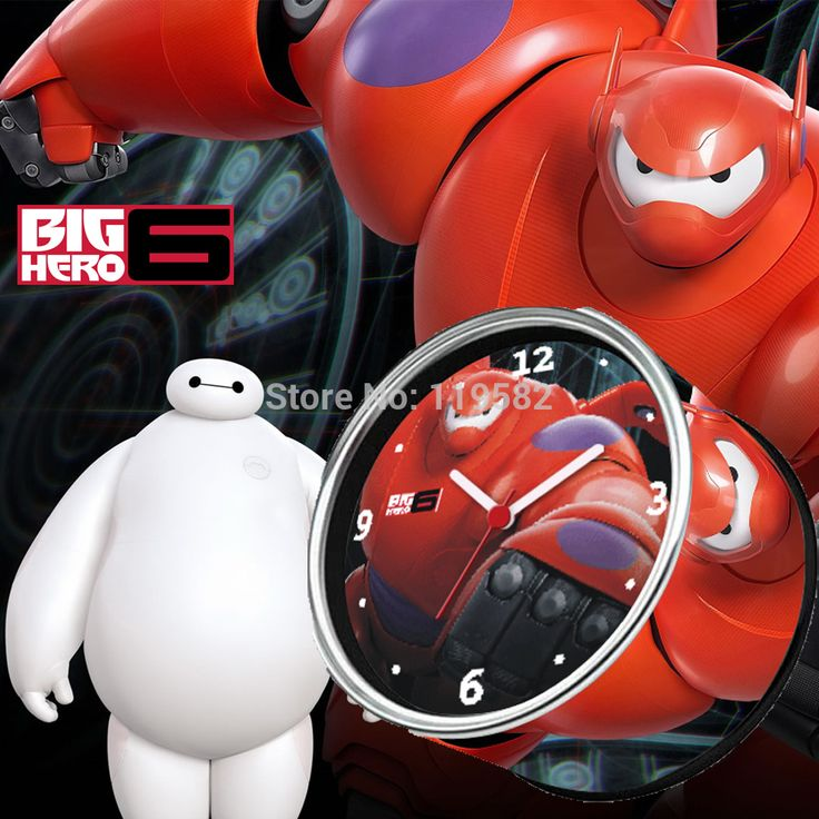 >> Click to Buy << Free Shipping Cartoon Big Hero 6 Die uhr Baymax Uhren Digital Clock In Can Gift Clocks, Desk Table Clocks,Relogio de parede #Affiliate