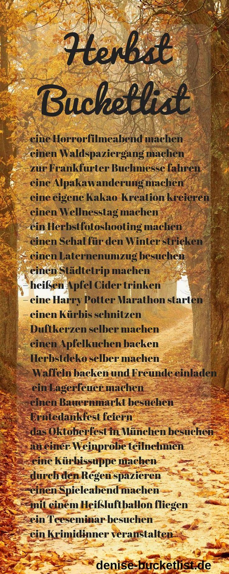 Herbst Bucket List 2019 🍂 Ideen & Tipps für den perfekten Herbst