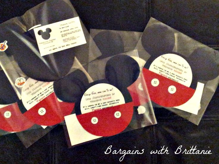 DIY Mickey Mouse Clubhouse Party Invitations! - Bargains with Brittanie
