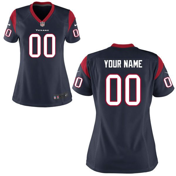 Houston Texans Nike Women's Custom Game Jersey – Navy Blue - $149.99