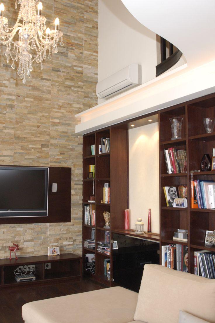 Living room interior design, Nappali látványterv