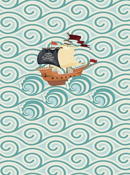 Djeco ~ Wall Paper ~ The Waves