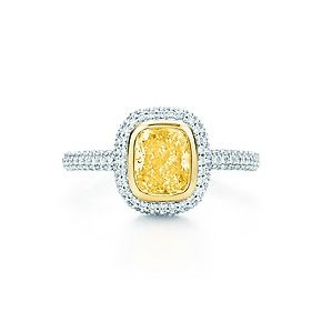 Tiffany Bezet yellow and white diamond ring in platinum and 18k gold. @Dayle Specht you need this.