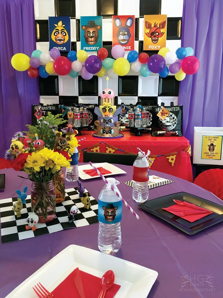 Five nights at freddy 39 s birthday party ideas freddy s - Th birthday themes ideas ...