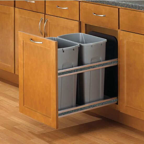 These Soft Close, Undermount Single Waste & Recycling Bins are sure to be the perfect fit for your kitchen. These cabinet waste bins will handle anything that is thrown into them and they feature heavy-duty slides and soft-close technology.