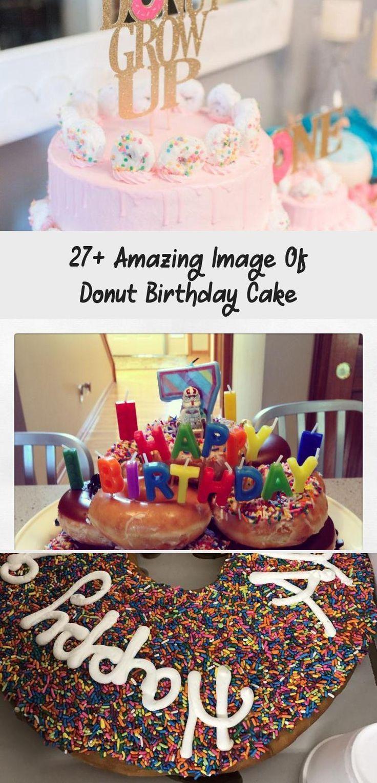 donut birthday cake tower