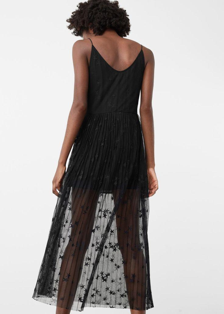 Vestido falda plisada   MANGO