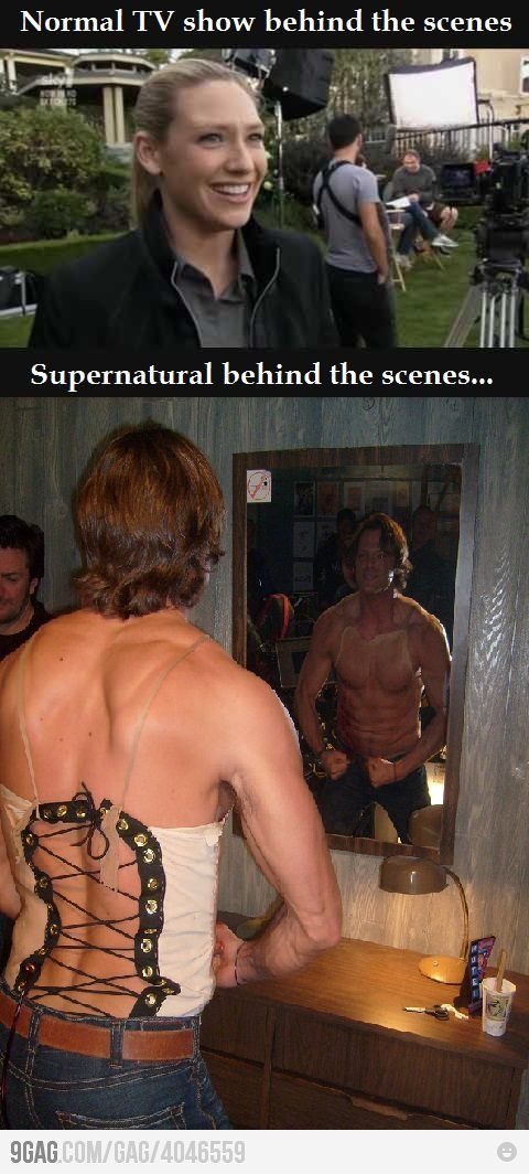 Meanwhile On The Set Of Supernatural .... I don't even know what's going on...